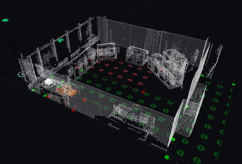 Das Großgeräte-Labor des IAS wurde mit einem Real-Time Locating System ausgestattet
